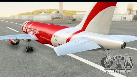 Airbus A320-200 Indonesia AirAsia para GTA San Andreas esquerda vista