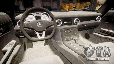 Mersedes-Benz SLS AMG 2010 para GTA 4 vista lateral