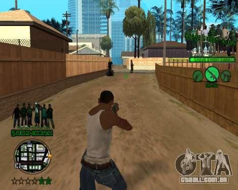 C-HUD Grove para GTA San Andreas terceira tela