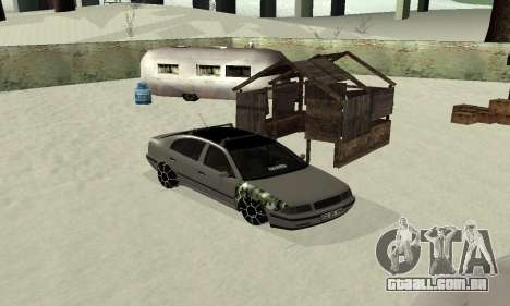 Skoda Octavia Winter Mode para GTA San Andreas vista direita