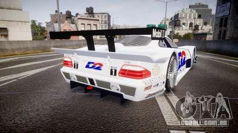 Mercedes-Benz CLK LM 1998 PJ1 para GTA 4 traseira esquerda vista