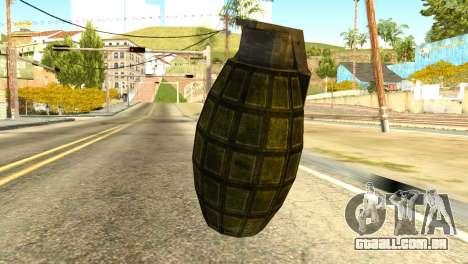 Grenade from Global Ops: Commando Libya para GTA San Andreas segunda tela