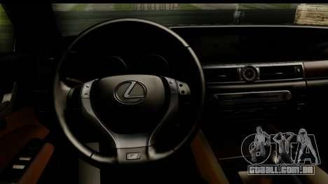 Lexus GS350 Indonesian Police para GTA San Andreas traseira esquerda vista