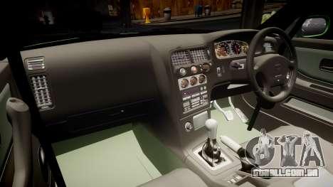 Nissan Skyline BCNR33 JUN VER 1995 v2.0 para GTA 4 vista interior