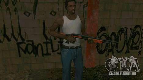 Orange Shotgun para GTA San Andreas quinto tela