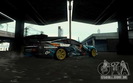 Toyota Supra Gorilla Energy GT-Shop para GTA San Andreas vista direita