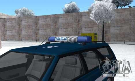 Daewoo-FSO Polonez Kombi 1.6 GSI Police 2000 para o motor de GTA San Andreas