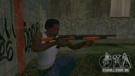Orange Shotgun para GTA San Andreas