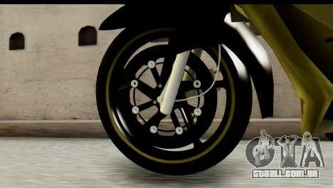 Yamaha F1ZR Stock para GTA San Andreas traseira esquerda vista
