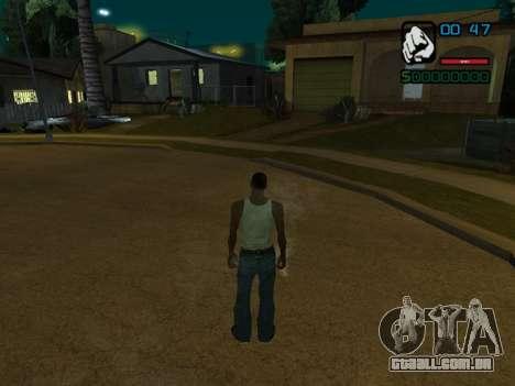 Indicador numérico HP para GTA San Andreas terceira tela