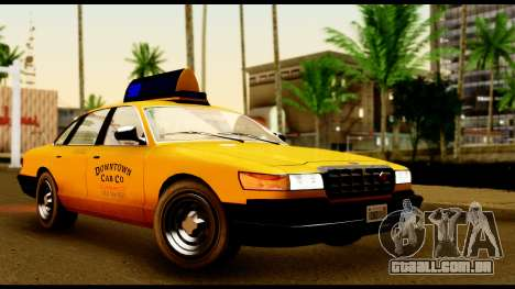 GTA 4 Vapid Stanier Downtown Cab para GTA San Andreas esquerda vista