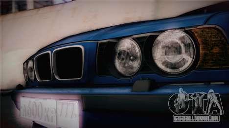 BMW M5 E34 Stance para GTA San Andreas vista direita