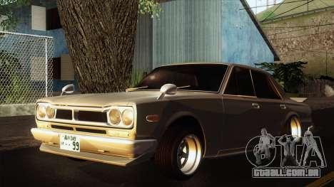 Nissan Skyline GC10 2KGT Shakotan para GTA San Andreas