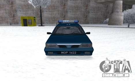 Daewoo-FSO Polonez Kombi 1.6 GSI Police 2000 para GTA San Andreas vista traseira