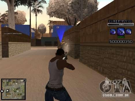 С-HUD DO GUETO para GTA San Andreas segunda tela