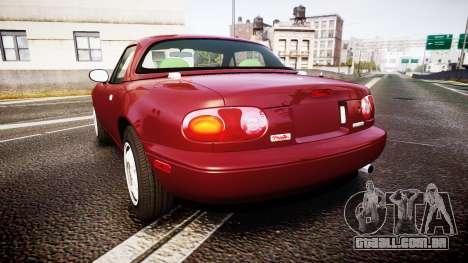 Mazda MX-5 Miata NA 1994 [EPM] para GTA 4 traseira esquerda vista