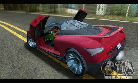 Grotti Cheetah v3 (GTA V) (SA Mobile) para GTA San Andreas traseira esquerda vista
