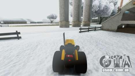 Tractor Kor4 para GTA San Andreas vista traseira