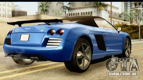 GTA 5 Obey 9F Cabrio para GTA San Andreas esquerda vista