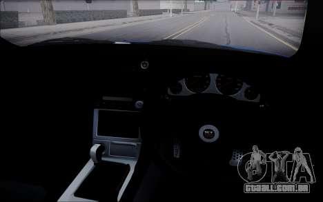 Nissan Skyline GT-R V Spec II 2002 para GTA San Andreas vista interior