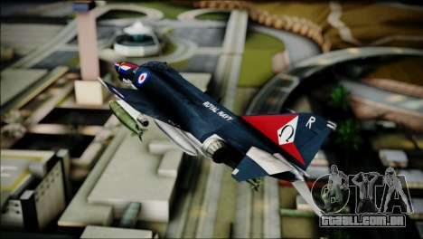 F4 Royal Air Force para GTA San Andreas traseira esquerda vista