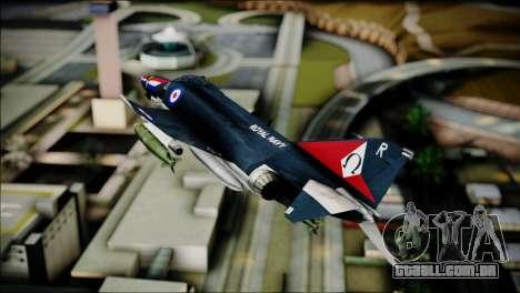 F4 Royal Air Force para GTA San Andreas traseira esquerda vista