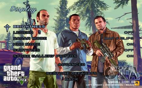 GTA 5 Menu para GTA San Andreas quinto tela