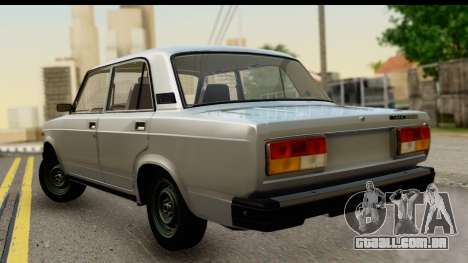 VAZ 2107 de Fluxo para GTA San Andreas esquerda vista