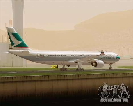 Airbus A330-300 Cathay Pacific para GTA San Andreas vista direita