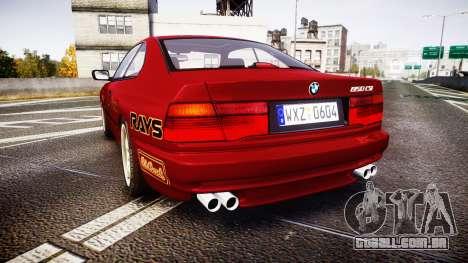 BMW E31 850CSi 1995 [EPM] Castrol Red para GTA 4 traseira esquerda vista