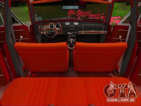 VAZ-21032 v2.0 para GTA San Andreas vista interior