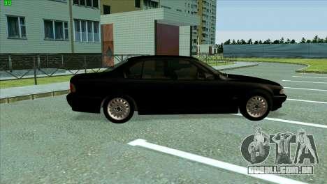 BMW 730i para GTA San Andreas vista traseira