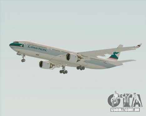 Airbus A330-300 Cathay Pacific para GTA San Andreas traseira esquerda vista