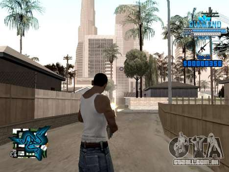 C-HUD Blek-Pro Diamond para GTA San Andreas segunda tela