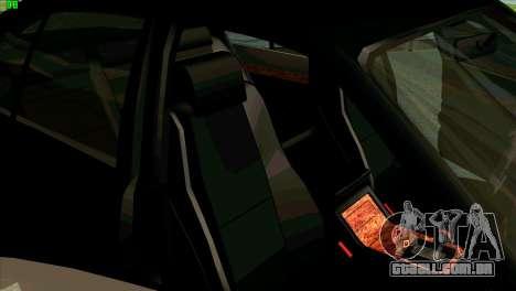 BMW 730i para GTA San Andreas vista superior