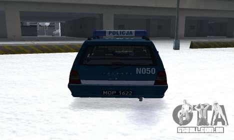 Daewoo-FSO Polonez Kombi 1.6 GSI Police 2000 para GTA San Andreas vista direita