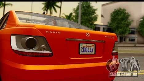 GTA 5 Karin Asterope IVF para GTA San Andreas traseira esquerda vista