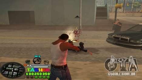 C-HUD Tasher para GTA San Andreas por diante tela