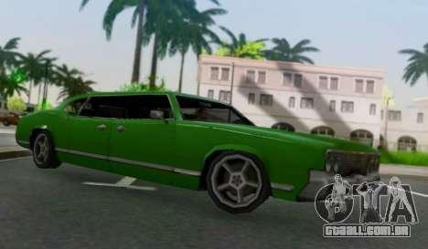 Sabre Limousine para GTA San Andreas traseira esquerda vista