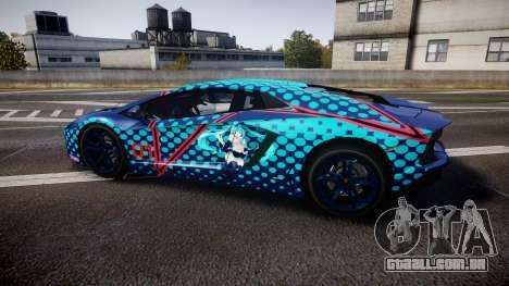 Lamborghini Aventador 2012 [EPM] Miku 3 para GTA 4