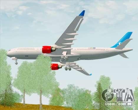 Airbus A330-300 Scandinavian Airlines para GTA San Andreas vista direita