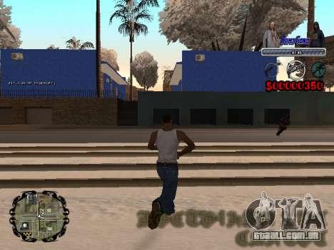 C-HUD Bomj Gang para GTA San Andreas terceira tela