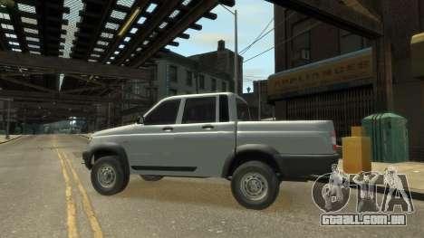 UAZ Patriot Pickup v.2.0 para GTA 4 vista direita
