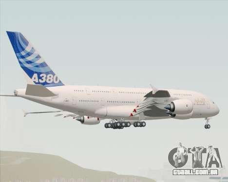 Airbus A380-800 F-WWDD Etihad Titles para GTA San Andreas traseira esquerda vista