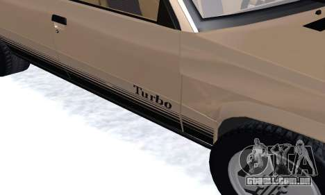Renault 11 Turbo Phase I 1984 para GTA San Andreas vista interior