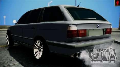 BMW M5 E34 Wagon para GTA San Andreas traseira esquerda vista