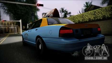 Taxi Vapid Stanier II from GTA 4 IVF para GTA San Andreas esquerda vista