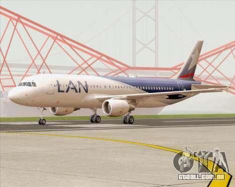 Airbus A320-200 LAN Argentina para GTA San Andreas esquerda vista