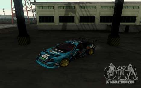 Toyota Supra Gorilla Energy GT-Shop para GTA San Andreas traseira esquerda vista