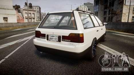 Vulcar Ingot Custom para GTA 4 traseira esquerda vista